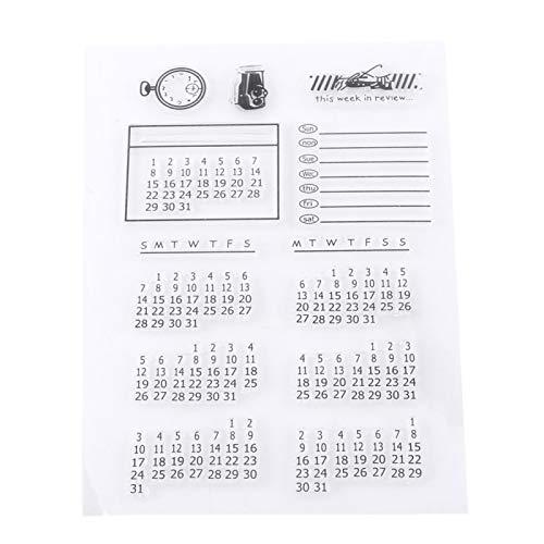 Silikonstempel, Scrapbook Stempel, Bullet Journal Stempel, Transparenter Silikon Stempel für Scrapbooking, Scrapping, Tagebücher Und Kartenpostkarten Für Die Dekoration, 11x16cm