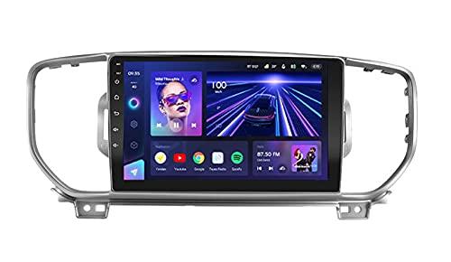 ADMLZQQ Autoradio Android Radio Stereo Doppio DIN per Kia Sportage 4 Ql 2018 2019 Lettore multimediale Touch Screen con SWC/dsp/RDS/carplay/Bluetooth + Fotocamera Posteriore,B,8core WiFi+4G:3+32G