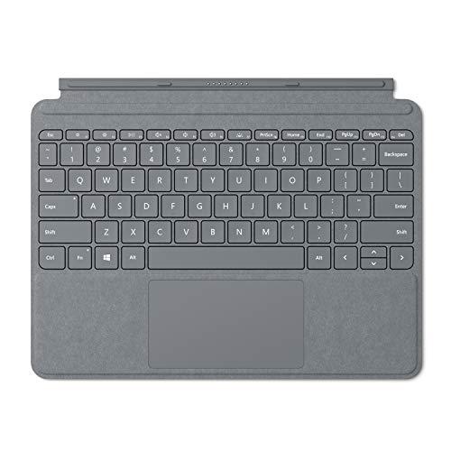 Microsoft Signature Type Cover - Funda con teclado para Surface Go, Plata - Teclado QWERTY Español
