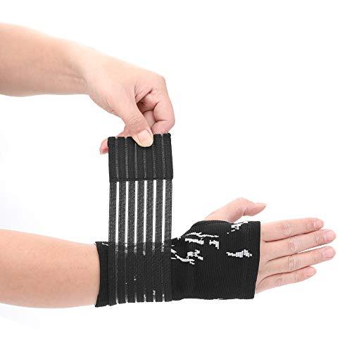 TOPmontain - Correa de compresión duradera de nailon con soporte para muñeca, guantes de medio dedo para baloncesto, tenis, deportes, fitness, ejercicio, hombres, mujeres