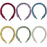 Mujer Diademas,6 Piezas Cabello hair band Mujer tela bandas para el pelo Diademas de satén Accesorios de pelo,para Niñas y Mujeres Regalo