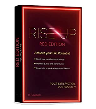 Rise Up Red Edition Natural Energy Supplement 1-Pack 10 Capsules
