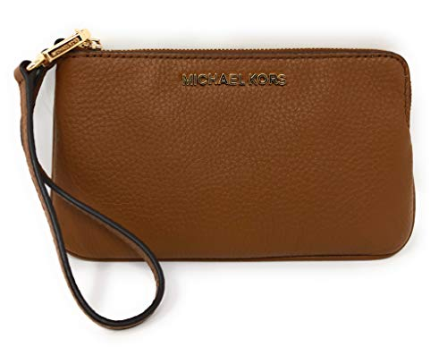 Michael Kors LG Jet Set Travel Pebbled Leather Wallet Luggage