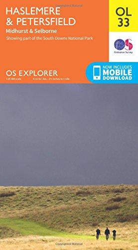 OS Explorer OL33 Haslemere & Petersfield (OS Explorer Map)