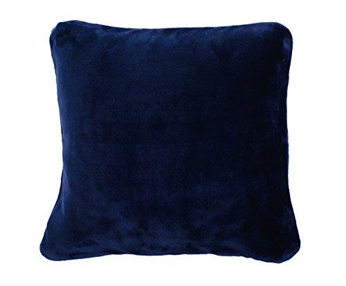 Gözze Premium Cashmere Kissenbezug, Polyester, Marine, 50 x 50 x 5 cm, 2-Einheiten