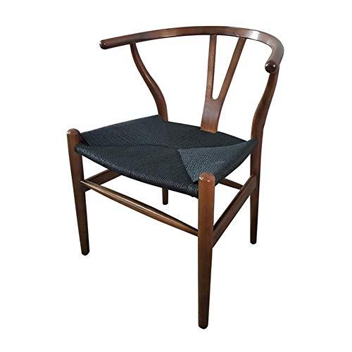 Stühle CJC Esszimmerstühle Amish Essen Asche Holz Seite, Verwittert, Wishbone Stil Gewebte Natürlich Gewebte Kabel PU Sitz (Farbe : T10)