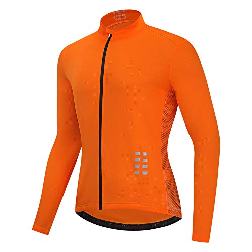 Lixada Camiseta de Ciclismo de Manga Larga para Hombre,Camiseta Transpirable para Bicicleta MTB,Chaqueta Deportiva para Correr
