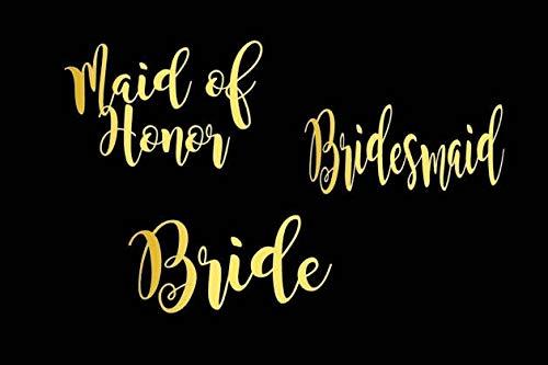 Bruidsjurk, bruidsjurk, bruidsmeisje, bruidsmeisje, decal, tumbler decal, Vinyl decal, bruidsgeschenk, Bachelorette Party gemakkelijk aan te brengen en verwijderbaar