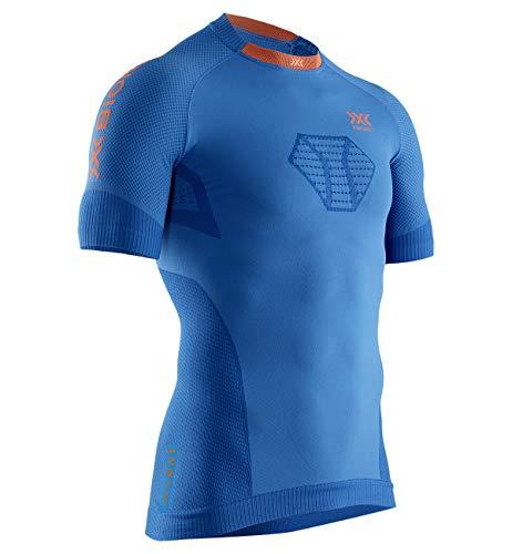 X-Bionic Invent Run Speed SS M, Strato Base Camicia Funzionale Uomo, Teal Blue/Kurkuma Orange, M