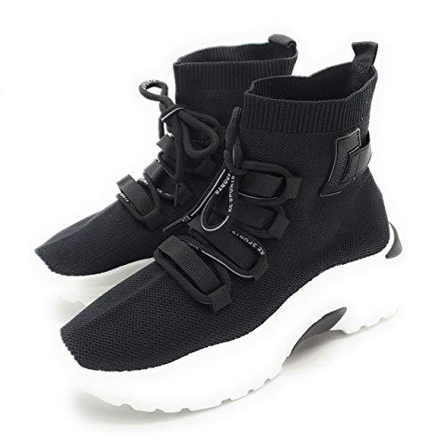 Zapatillas calcetín para Mujer. Deportivas Estilo Malla. Muy cómodas. No pesan. Color Negro. (Numeric_37)