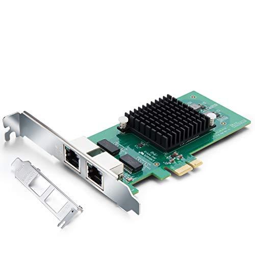 Gigabit PCI Express Netzwerkkarte E1G42ET-Intel 82576 Chip, 1Gbit Ethernet LAN Netzwerkadapter, Dual RJ45 Copper Ports für Windows Server, Linux, PC, VMware ESX
