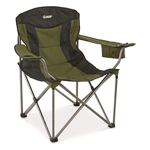 Guide Gear Oversized XXL Camp Chair, 600-lb. Capacity, Green/Black, Hunter Green/Black