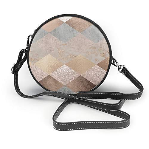 Ameok-Design Bolso de mano de piel sintética multifuncional, para ir de compras, viajes, color cobre y oro rosa