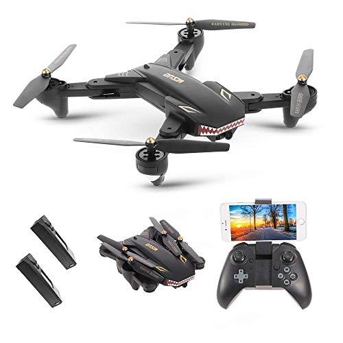 jwcn FPV RC Drohne mit HD Kamera, Faltbare Drohne mit Kamera HD 2.0MP Weitwinkel-Kamera WiFi FPV Faltbare Drohne One Key Return Höhe Halten G-Sensor Quadrocopter w/One Extra Batterie Drohne