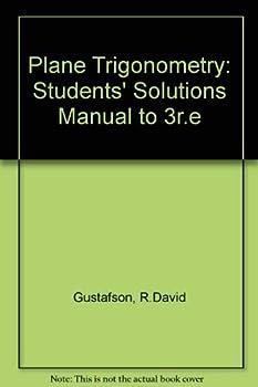Paperback Plane Trigonometry: Students' Solutions Manual to 3r.e Book