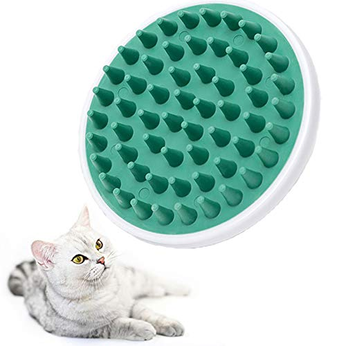 Olanda Cat Scratching Comb,Pet Grooming Brush,Pet Silicone Massage Comb,Dog Wash Brush,Ubber Comb, Bath Massage Brush Comb, Deshedding Brush for Short Hair Suitable for Pet Cats And Dogs (Green)