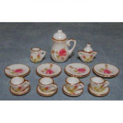 Pink Rose Coffee Set