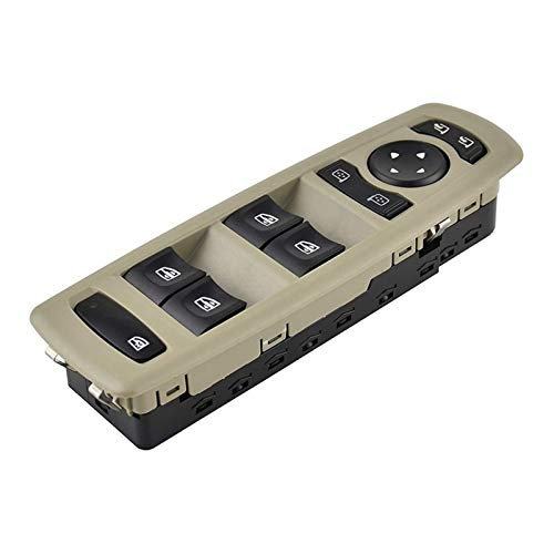 SHOUNAO Coche Master Power Window Mirror Switch 7700817337 809610006R 254000015R Ajuste para Renault Fluence Megane Laguna 3 2008-2016 (Color Name : Black)