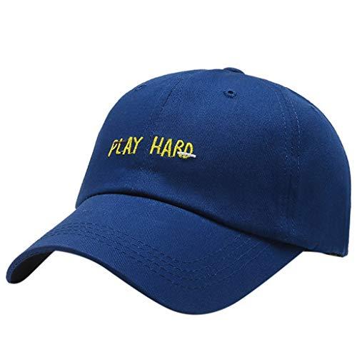 URIBAKY Sports Senderismo Ciclismo Letra Estampada Ajustable Gorra de béisbol Sombrero azul Talla única