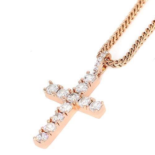 Tripod Jewelry - Collana con ciondolo a forma di croce religiosa, placcata in oro 18 carati, con ciondolo a forma di croce religiosa, cod. TJHP003
