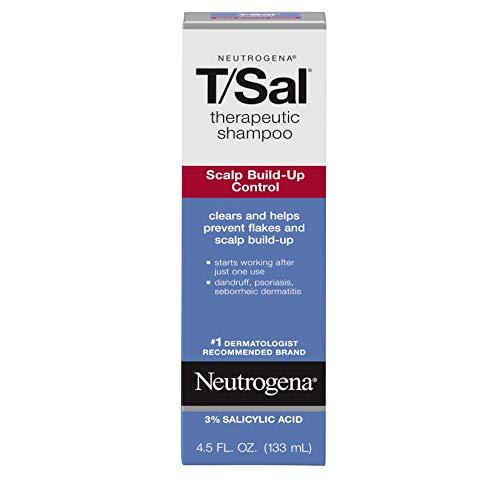 Neutrogena T/Sal Therapeutic Scalp Shampoo for Scalp Build-Up Control with 3% Salicylic Acid, Scalp Treatment for Dandruff, Scalp Psoriasis & Seborrheic Dermatitis Relief, 4.5 fl. oz (Pack of 9)
