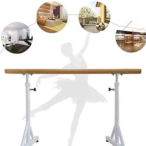 Ballet Barre,Home Mobile Ballet Bar,Adjustable Dancing Stretching Ballet for Home Fitness Gymnastics,80~120CM - White (Size : 1M)
