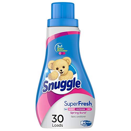 Snuggle Plus Super Fresh Liquid Fabric Softener, Spring Burst, 31.7 Fluid Ounce