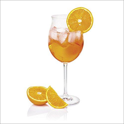 Artland Qualitätsbilder I Wandtattoo Wandsticker Wandaufkleber 30 x 30 cm Ernährung Genuss Getränke Cocktail Foto Orange D1HD Aperol Spritz Weinglas Scheibe Orange