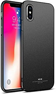 Back cover for Iphone X All-inclusive Tpu hard cover phone shell slim Matte anti fall case black
