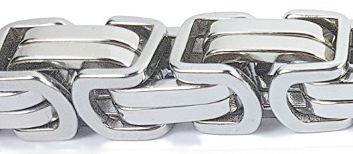 MARSOXX Herrenschmuck schwere Silberne 15mm 50cm Königskette aus Edelstahl