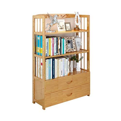 LYQZ Einfaches Fach-Bücherregal, Studenten-Bücherregal-Vollholz-Lagerregal-Multifunktions-stehender Aufbewahrungsschrank (Farbe : 4 Layer)