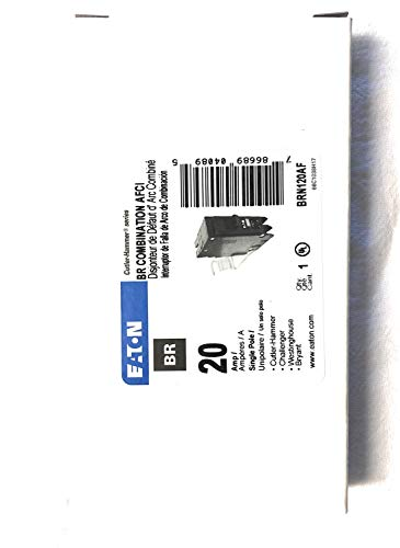 Eaton BRN120AF Single-Pole Type BR1 Combo Arc-Fault Circuit Breaker, 20A - Quantity 1