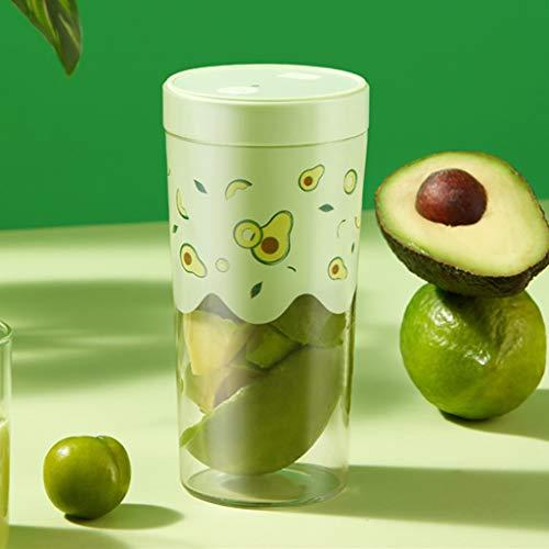Przenośna mini sokowirówka ręczna maszyna do owoców 250 ml przenośny kubek sokowirówki USB, blender do soku, koktajli mlecznych i smoothie, bez BPA, dom, biuro, sport, podróże, na zewnątrz (kolor: zielony)
