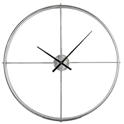 Cooper Classics Stephenson Silver Oversized Wall Clock