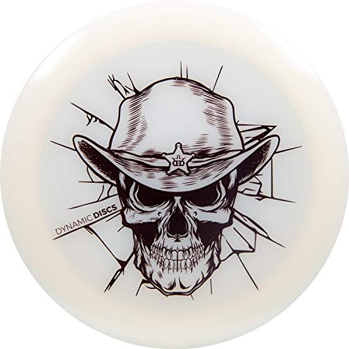 Dynamic Discs Lucid Sheriff Skull Stamp Disc Golf Driver | Maximum Distance Frisbee Golf Driver | Stable Golf Disc | Colors Will Vary