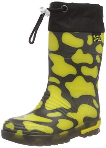 Lurchi Jungen Unisex Kinder PLATSCHI Gummistiefel, Mehrfarbig (black yellow 31), 25 EU