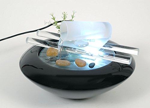 WeiVa Feng Shui Keramik - Glas Zimmerbrunnen mit LED Beleuchtung 184
