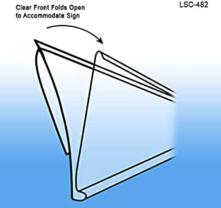 Pack of 100 Clip Strip Corp. Crystal Clear PVC Retail Shelf Separator Clear Plastic Shelf Divider 3 H x 9-9//16 L with Adhesive Mount by ClipStrip Item SD-3010 20 mil Thick