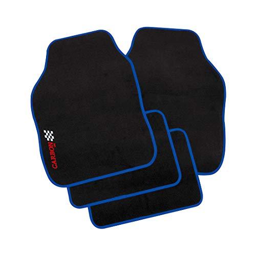 Petex 11380005 Autoteppich Universal Carbon, 4-teilig, blau