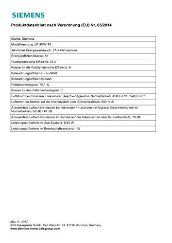 Siemens LF16VA170 Dunstabzugshaube Tischhaube - 5
