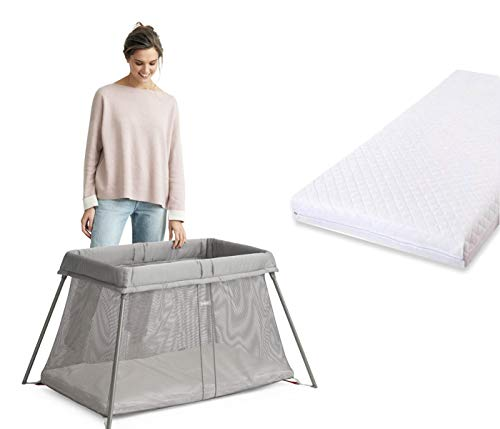 Travel Cot Mattress Extra Thick Quilted fits Graco Red Kite Breathable & Non-Allergenic (100 x 70 x 10 cm)