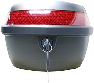 Topcase für Roller, Elektroroller, Mofas, Motorräder, Inkl. aller Montagematerialien, Farbe: Schwarz