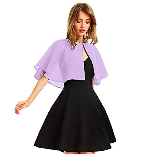 H.eternal(TM) - Chal de gasa suave para vestido de noche de boda, capa de bolero para mujer, fiesta, trabajo, oficina, blusa