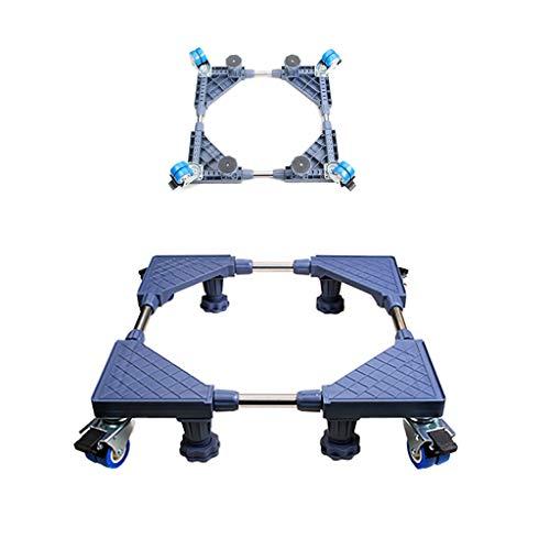DNSJB Waschmaschine Basis abschließbare Halterung Roller Pad hohe automatische Rahmen Universal Kühlschrank Halterung mit 4x2 Räder und 4 Starke Füße