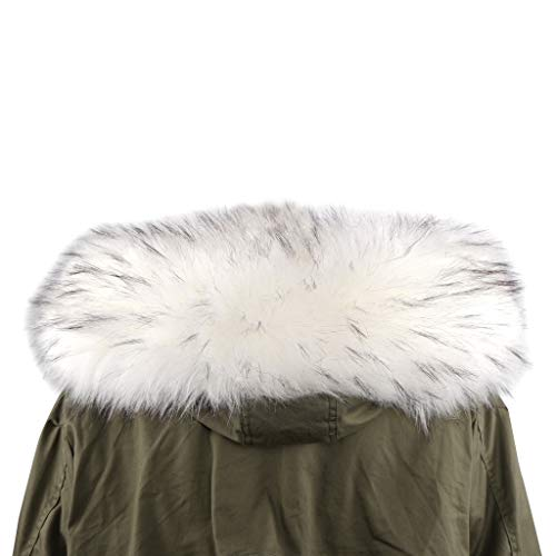 Deargles Bufanda de piel sintética con mantón para cuello de abrigo de...