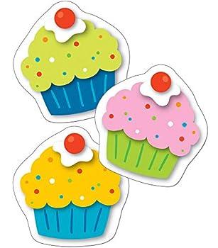 Carson Dellosa – Cupcakes Mini Colorful Cut-Outs Classroom Décor 36 Pieces