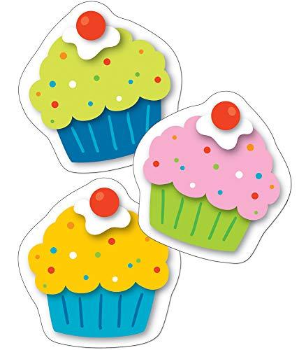 Carson Dellosa – Cupcakes Mini Colorful Cut-Outs, Classroom Décor, 36 Pieces