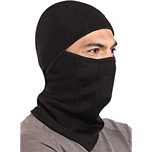 Mens Extreme Cold Weather Full Face Mask - Winter Ski Mask Balaclava - Snow Head Gear for Construction, Working, Motorcycle, Snowmobile, Snowboard & Skiing. Fits Under Helmets