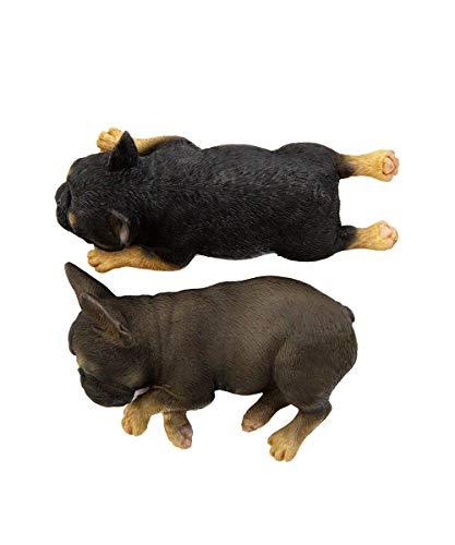 Petorama 100% Handmade Hand Painted Collectible Grade Premium Lifelike Realistic Gift Sleeping French Bulldog Statue Set (1) 1:6 (5)