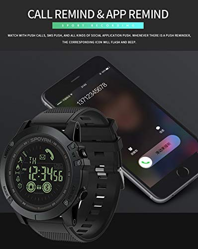 Birdfly Flagship Rugged Smartwatch 33-Month Standby Time 24h All-Weather Monitoring Under 20 Dollar (Black) 2